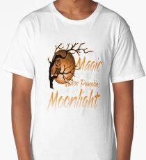 Magic When Pumpkin glow Moonlight Halloween Shirt Long T-Shirt