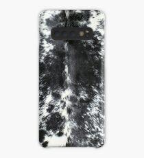 Funda/vinilo para Samsung Galaxy Cuero de vaca negro y blanco | Textura