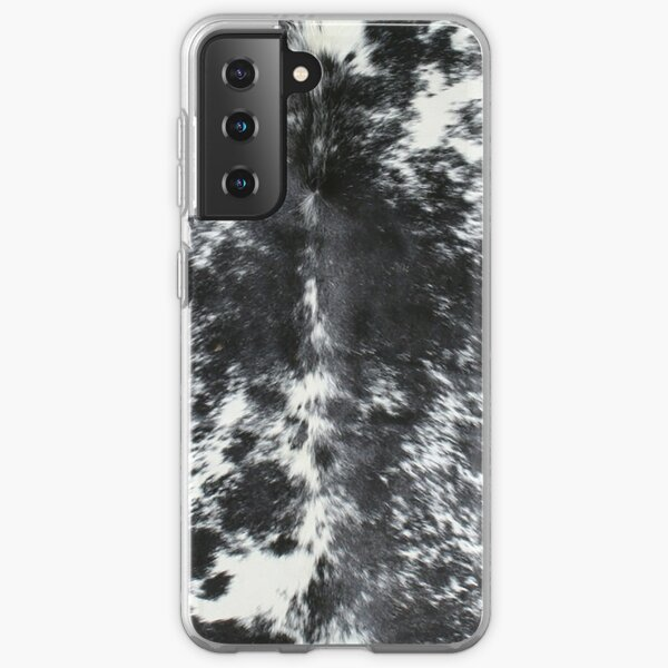 Cowhide Black and White | Texture Samsung Galaxy Soft Case