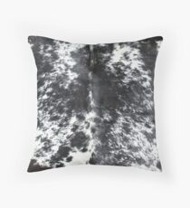 Cowhide Black and White | Texture Throw Pillow