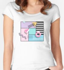 Memphis Party Women's Fitted Scoop T-Shirt