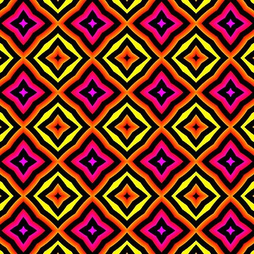 Colorful pattern: yellow, orange, pink by dutchstranger