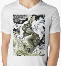 Hares in the Hedgerows Men's V-Neck T-Shirt