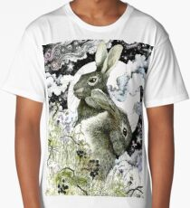 Hares in the Hedgerows Long T-Shirt