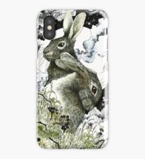 Hares in the Hedgerows iPhone Case/Skin
