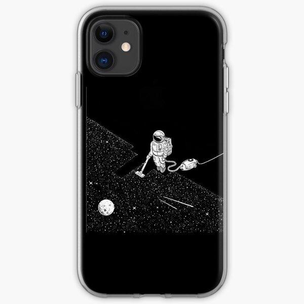 Astronaut vacuuming the stars iPhone Soft Case