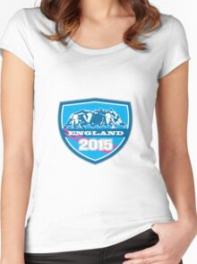 Rugby Scrum England 2015 Shield Women's Fitted Scoop T-Shirt