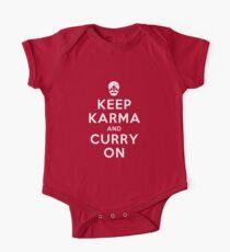 Keep Karma And Curry On [iPad / Phone cases / Prints / Clothing / Decor] One Piece - Short Sleeve