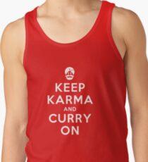 Keep Karma And Curry On [iPad / Phone cases / Prints / Clothing / Decor] Tank Top