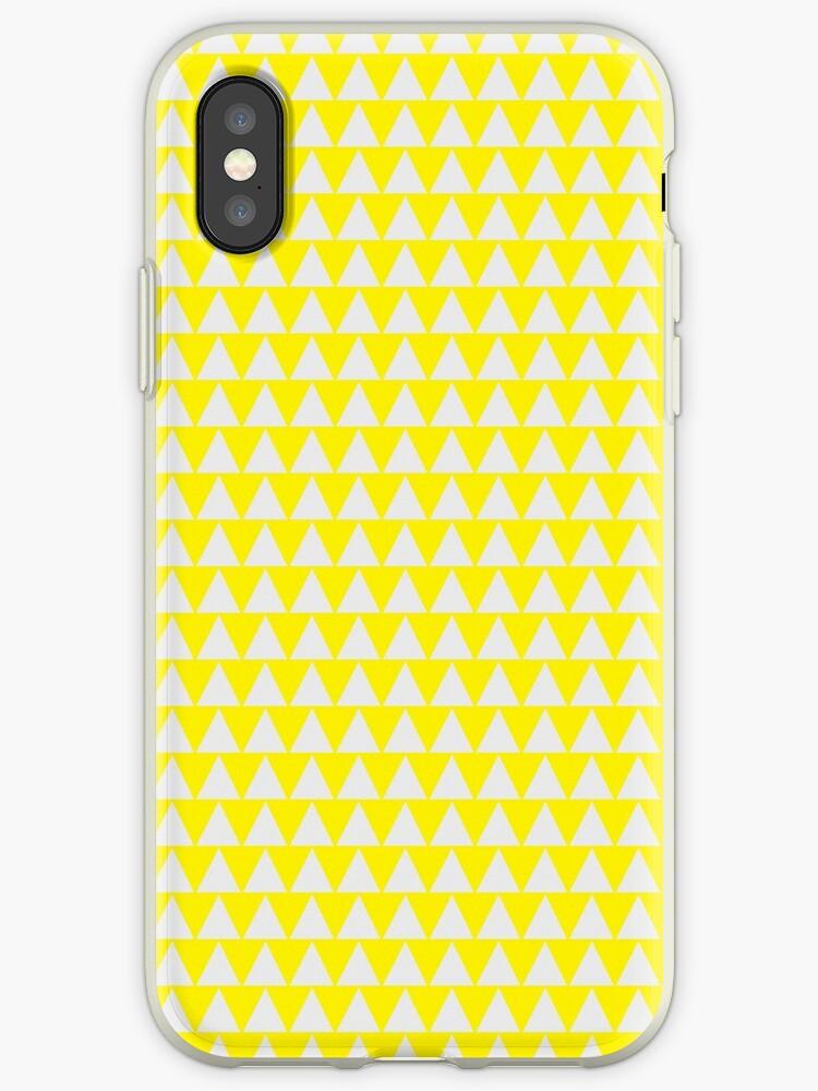 Gelbes nordisches modernes Dreieck nordisches einfaches Muster von koovox