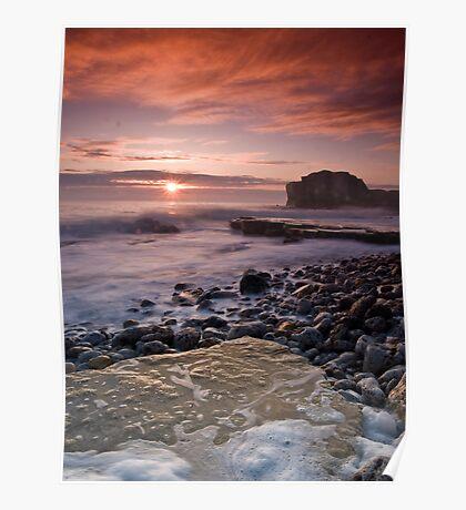 Sunrise at Trow Rocks Poster