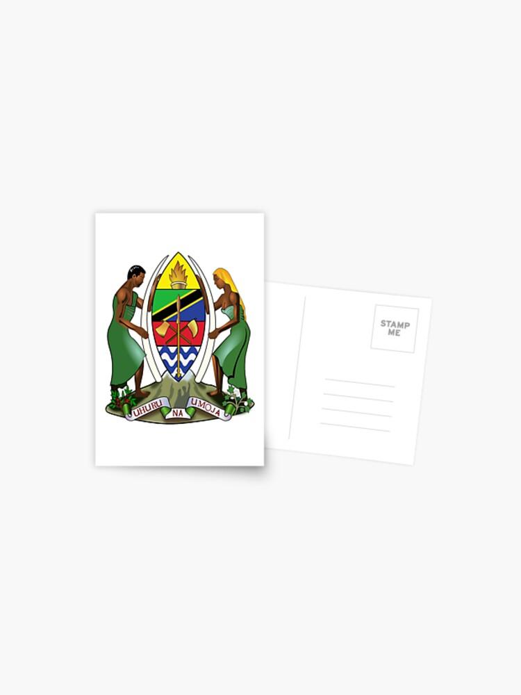Tanzania Coat Of Arms Postcard By Tonbbo Redbubble