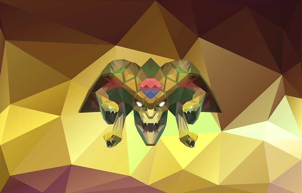 Medusa Low Poly Art by giftmones