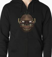 Pudge Low Poly Art Zipped Hoodie