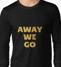 Away We Go in Gold T-Shirt