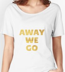 Away We Go in Gold Women's Relaxed Fit T-Shirt