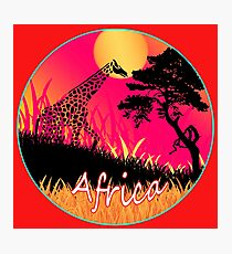 Vector Africa Photographic Print