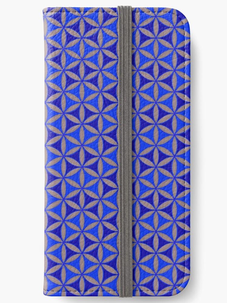 Flower of Life Pattern Blue Grey by Cveta