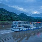China. Yangtze River Cruise. Cruise Ship in the Early morning. by vadim19