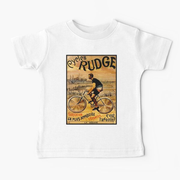 RUDGE: Vintage Deesse Bicycle Advertising Print Camiseta para bebés