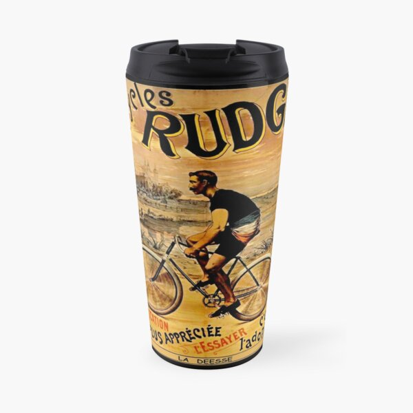 RUDGE: Vintage Deesse Bicycle Advertising Print Taza de viaje