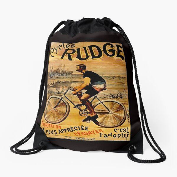 RUDGE: Vintage Deesse Bicycle Advertising Print Mochila saco