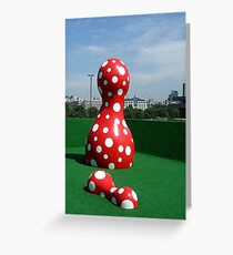 Yayoi Kusama on the South Bank Greeting Card