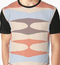 Zaha Blue Retro Graphic T-Shirt