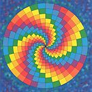 2309 - Coloured Spiral in nearly Perfect Circle before Blue and Airbrushed by tigerthilo