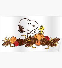 Snoopy Thanksgiving Poster