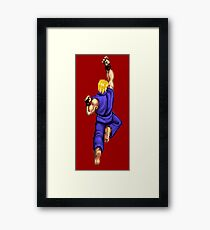 Blue Ken Shoryuken Framed Print