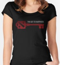 DOTA - The Key to Happiness Women's Fitted Scoop T-Shirt