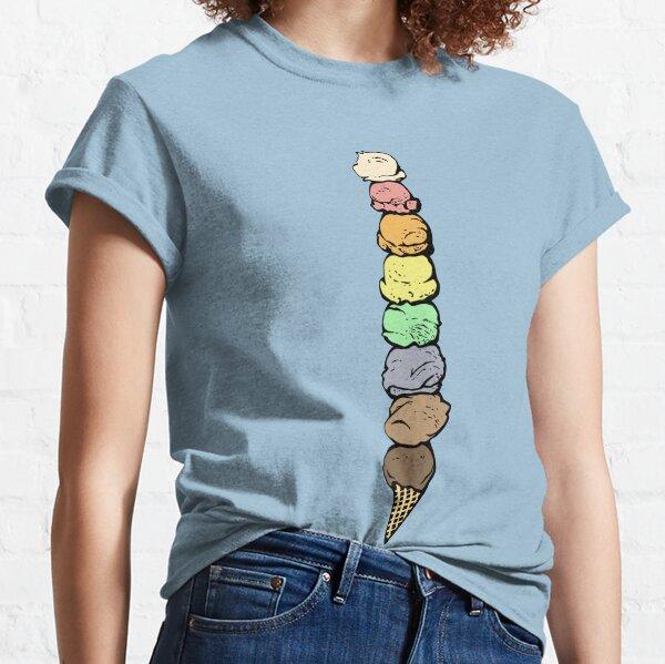 Giant Rainbow Ice Cream Cone - Single Classic T-Shirt