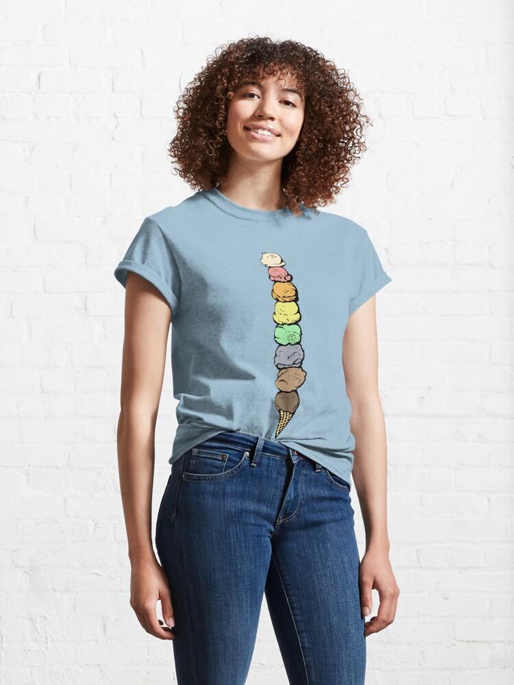 Alternate view of Giant Rainbow Ice Cream Cone - Single Classic T-Shirt