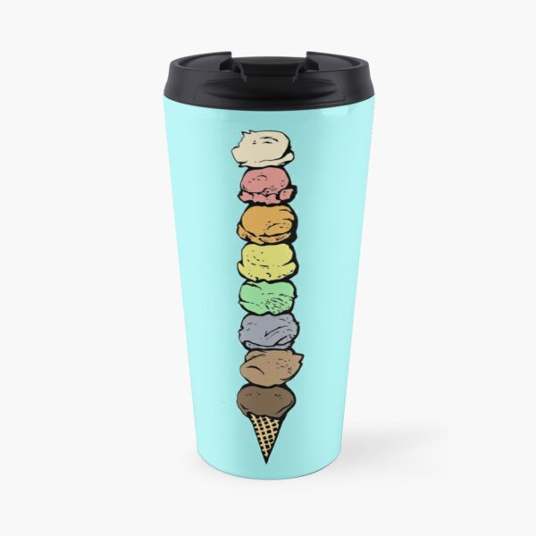 Giant Rainbow Ice Cream Cone - Single Travel Mug