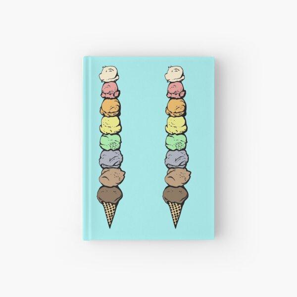 Giant Rainbow Ice Cream Cone - Single Hardcover Journal