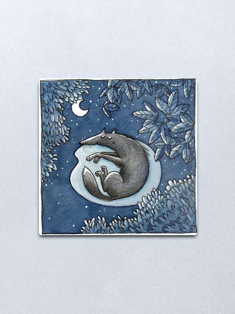 Alternate view of Nacht -Night- -Wolf- Metal Print