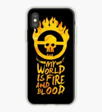 My world is fire iPhone Case
