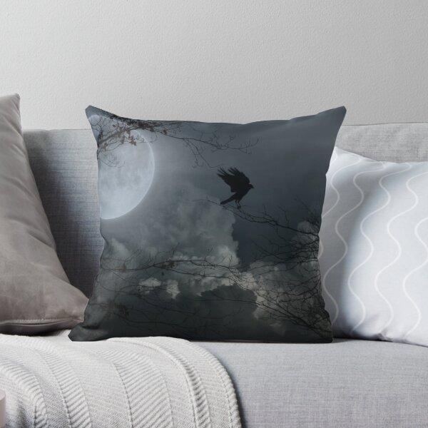Crow's Night Moves Throw Pillow