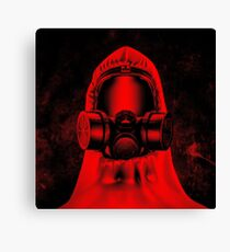 Toxic environment RED Canvas Print