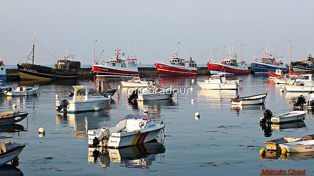 """ Sunset on Roscoffs fishing fleet"" by Malcolm Chant"