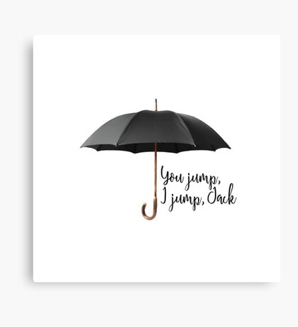 You Jump, I Jump Canvas Print