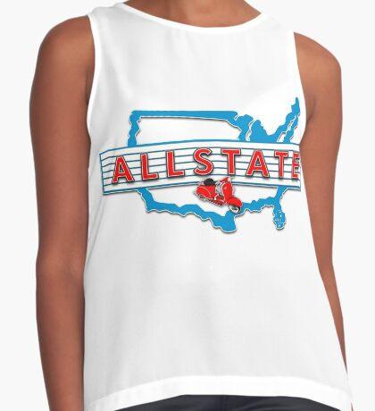 Scooter T-shirts Art: Allstate Logo Design Contrast Tank