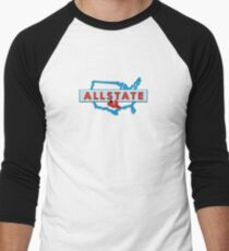 Scooter T-shirts Art: Allstate Logo Design Men's Baseball ¾ T-Shirt