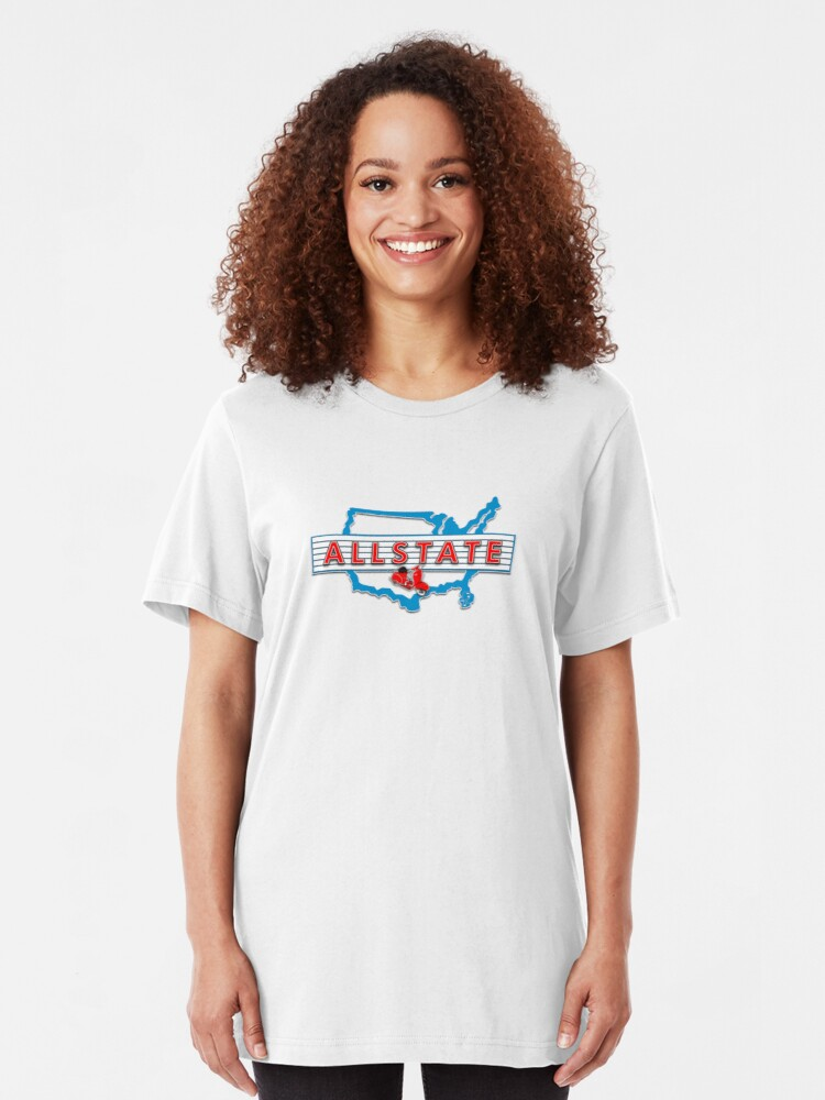 Alternate view of Scooter T-shirts Art: Allstate Logo Design Slim Fit T-Shirt