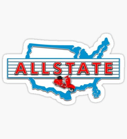Scooter T-shirts Art: Allstate Logo Design Sticker