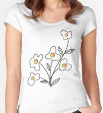 Einfach Blume hinzufügen Tailliertes Rundhals-Shirt
