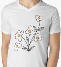 Einfach Blume hinzufügen T-Shirt mit V-Ausschnitt für Männer