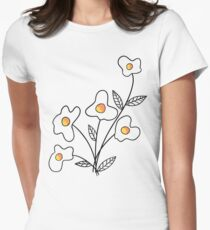 Just Add Flower Women's Fitted T-Shirt