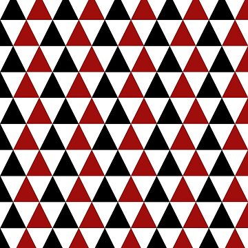 Crimson Red Black Triangle Abstract Pattern by mashingTees